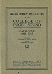 1914-1915 Bulletin by University of Puget Sound