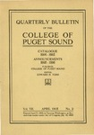 1915-1916 Bulletin by University of Puget Sound