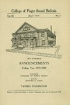 1919-1920 Announcements by University of Puget Sound