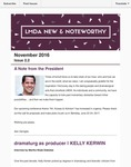 LMDA New & Noteworthy, volume 2, no. 2 by Ken Cerniglia, Kelly Kerwin, Martha Wade Steketee, Magda Romanska, Megan McClain, Maren Robinson, and Lojo Simon