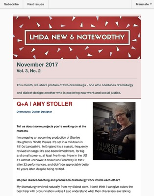 LMDA Newsletters: Canada and the United States | LMDA Archive