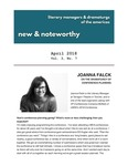 New & Noteworthy, volume 3, no. 7 by Joanna Falck, Jeremy Stoller, and Catherine Maria Rodriguez