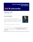 New & Noteworthy, volume 3, no. 2 (sic) by L. E. Webster, Jeremy Stoller, and Jacqueline Goldfinger