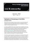 New & Noteworthy, January 2020 by Morgan Grambo, Megan Monaghan Rivas, Diane Brewer, and Heidi Schmidt