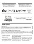 LMDA Review, volume 11, issue 1 by Lynn M. Thomson, Geoff Proehl, Michael Bigelow Dixon, Amy Wegener, Sonya Sobieski, Liz Engelman, DD Kugler, Nichole Gantshar, Brian Quirt, Gavin Witt, Vanessa Porteous, and Marnie Andrews