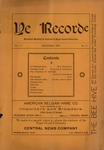 Ye Recorde, 1900-12 by Associated Students of the University of Puget Sound
