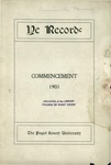 Ye Recorde, 1901-06 by Associated Students of the University of Puget Sound