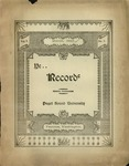 Ye Recorde, 1897-03 by Associated Students of the University of Puget Sound