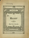Ye Recorde, 1897-06 by Associated Students of the University of Puget Sound