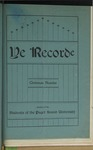 Ye Recorde, 1901-12 by Associated Students of the University of Puget Sound