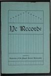 Ye Recorde, 1901-11 by Associated Students of the University of Puget Sound